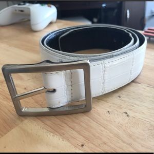 Men's croc skin belt
